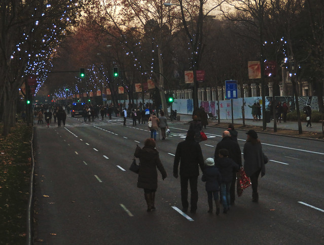 Paseo del Prado sin coches; Madrid, Spain (2017)
