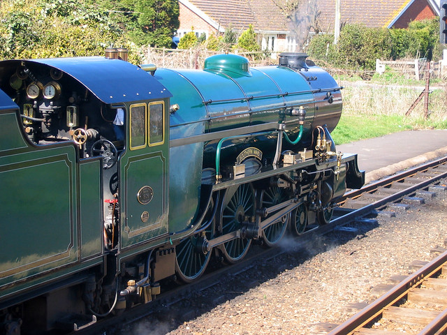 The Romney Hythe and Dymchurch railway at Dymchurch