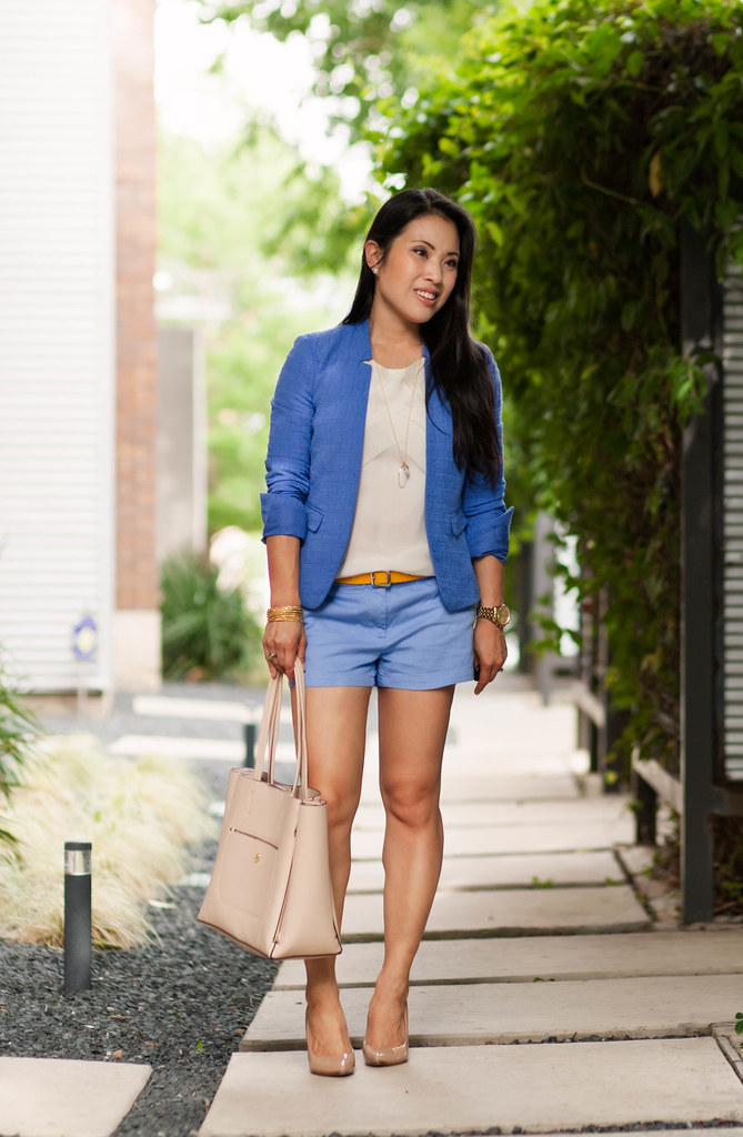 Light Blue Shorts Outfit - The Else