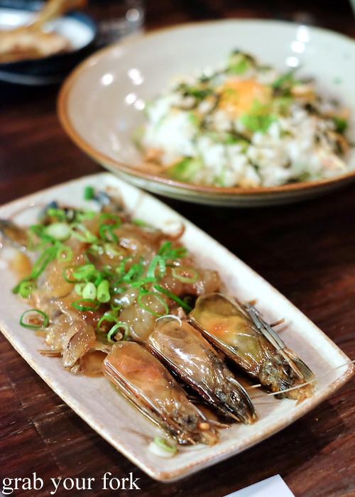 Prawn jang soy fermented prawn at Kim Restaurant, Potts Point