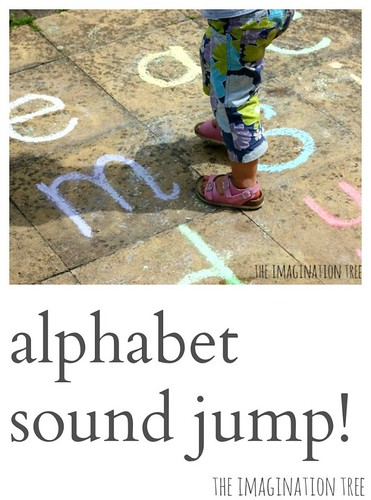 Noisy Letter Jump Phonics Game (Photo from The Imagination Tree)