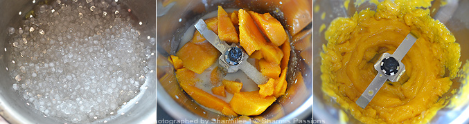 How to make mango sago - Step2