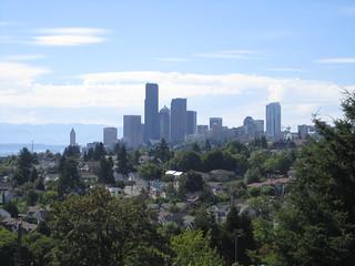 Seattle skyline from Mount Baker Ridge