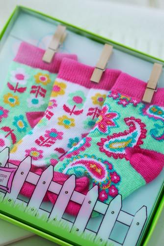 Baby Socks 3 Pair 0-12M in Tutti Frutti