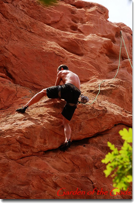 Climbing the beautiful red rock at Garden of the Gods 1