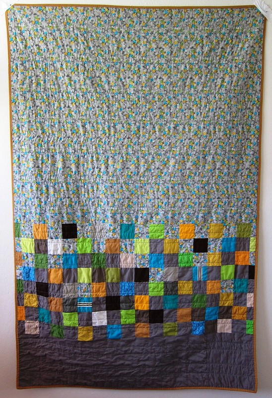 schur thing quilt, back