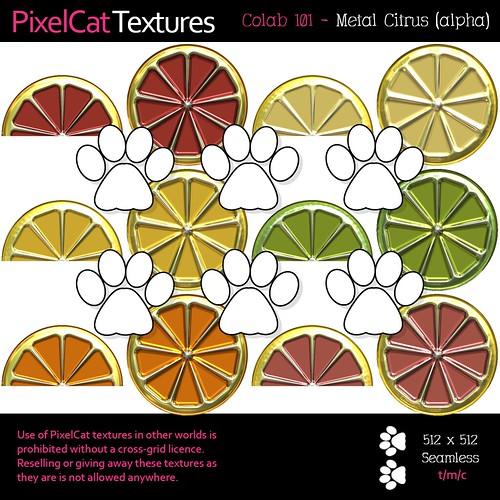 PixelCat Textures - Colab 101 - Metal Citrus (alpha)