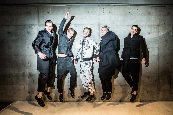 Yulian Antukh(Antuh)3061_FW14 Tokyo Sise_Rian van Gend, Frederik Tolke, Robbie McKinnon, Lewis Conlon, Yulian Antukh(Fashion Press)