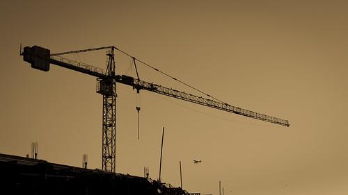 Plane and crane
