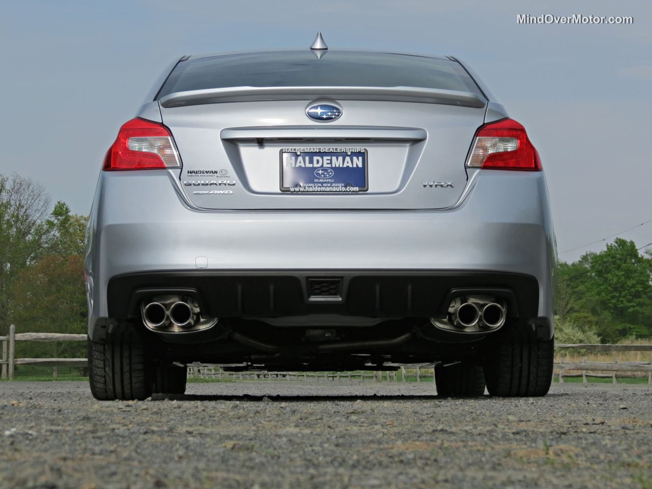 2015 Subaru WRX Rear View