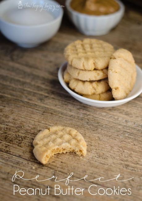 the most perfect peanut butter cookie recipe you'll ever try