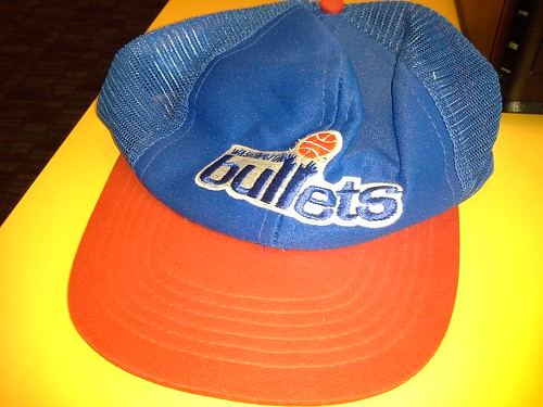 old Washington Bullets trucker hat