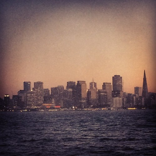 San Francisco at sunset. #sanfrancisco #kategoestocalifornia