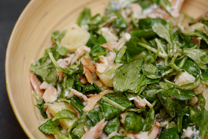 recipe easy potato salad smoked trout