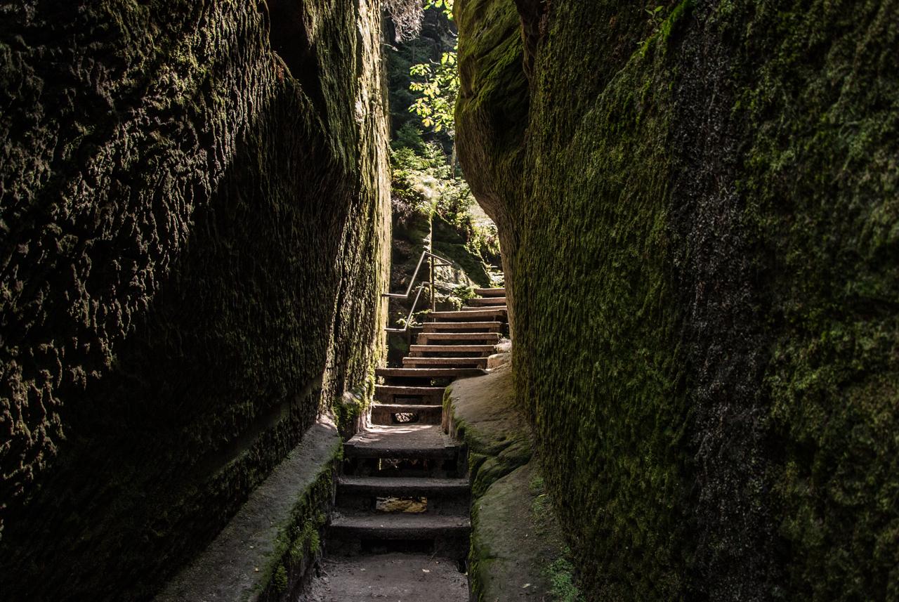Schwedenlöcher - Treppe