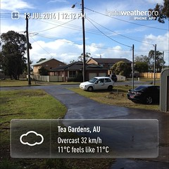 Been a little rain. #instaweather #instaweatherpro #weather #wx #sky #outdoors #nature #world #love #beautiful #instagood #fun #cool #life #nice #teagardens #australia #day #winter #au
