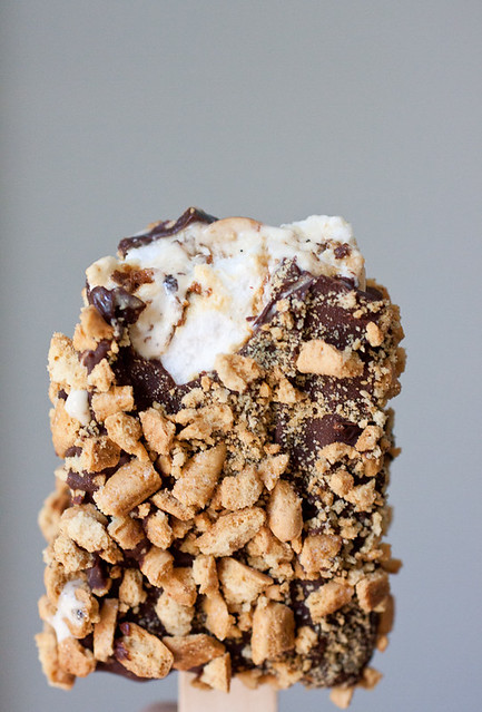 S'mores Ice Cream Popsicles