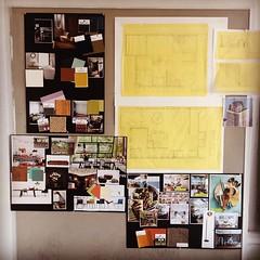 Last day of school! Final Presentation! #design #floorplan #creativeboard #myeyeshurt