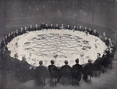 25 ft. dial used as banquet dining table, Free Trades Hall, Leicester (1910)