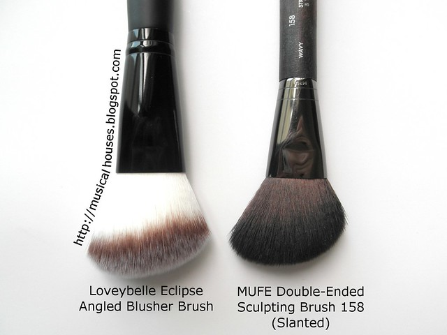 MUEF Brush 158 Blush Loveybelle Comparison