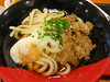 Udon with beef and egg