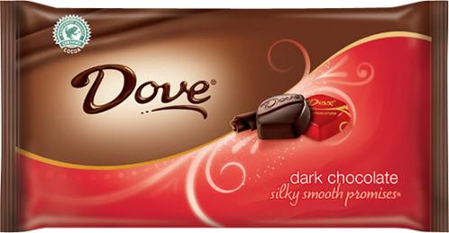 Dove dark chocolate bar.