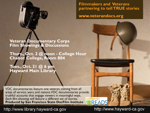 California Reads - Veteran Documentary Corp  Film Showing & Discussion