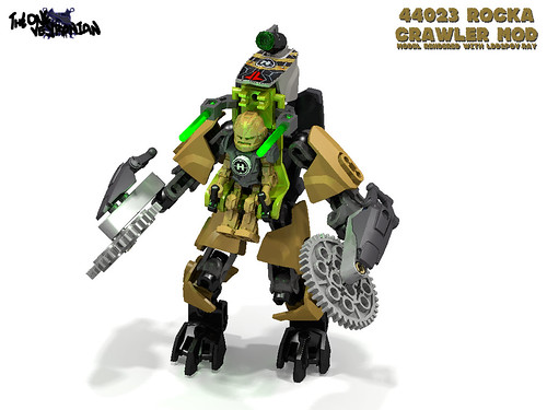 LEGO Hero Factory MOD - 44023 Rocka Crawler (render)