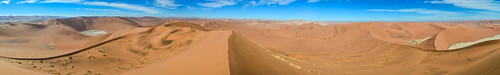 Panorama from Big Daddy dune, Sossusvlei, Namibia