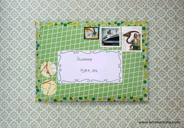 Green patterned, outgoing