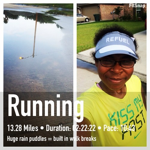 #running 13.28 miles done in some #Texas humidity but there was a little breeze. Tomorrow is a 63 mile bike ride. #marathontraining #training #teamchocolatemilk #sweatpink #fitfluential #runchat #iambft