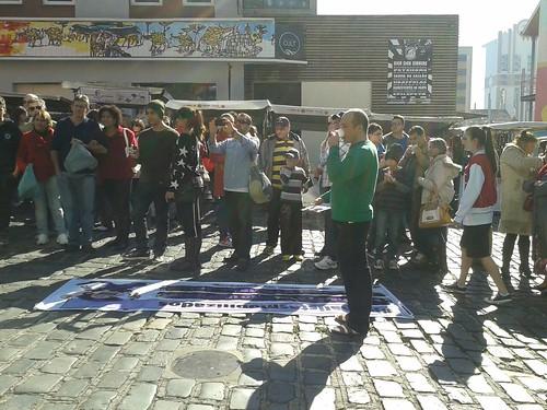Sindijor faz ato público na Feira do Largo