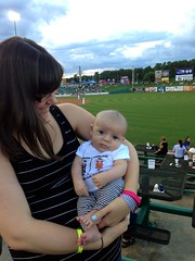 Benjamin's first baseball game!