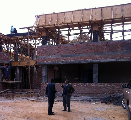 Zimbabwe Conference office under construction - front view