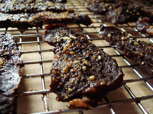 Bulgogi Beef Jerky: Glistening