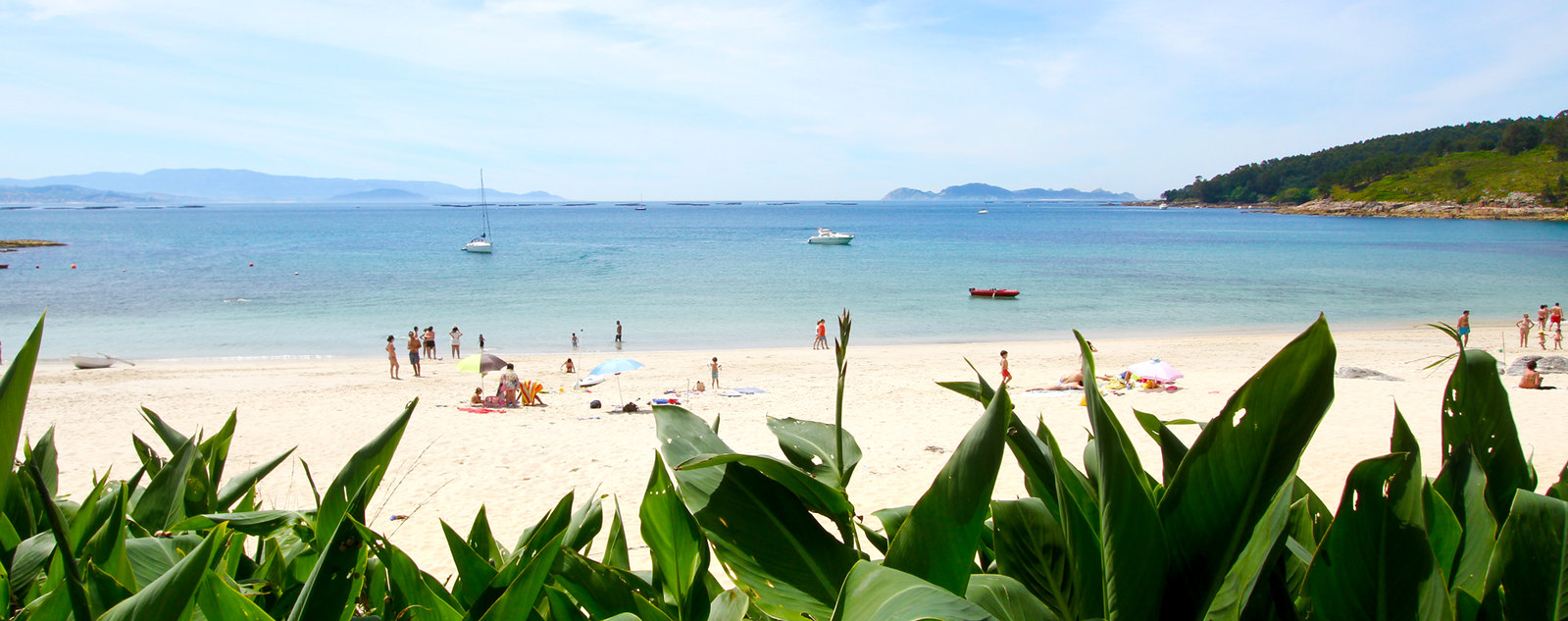 Praia de Santa Marta en Cangas do Morrazo