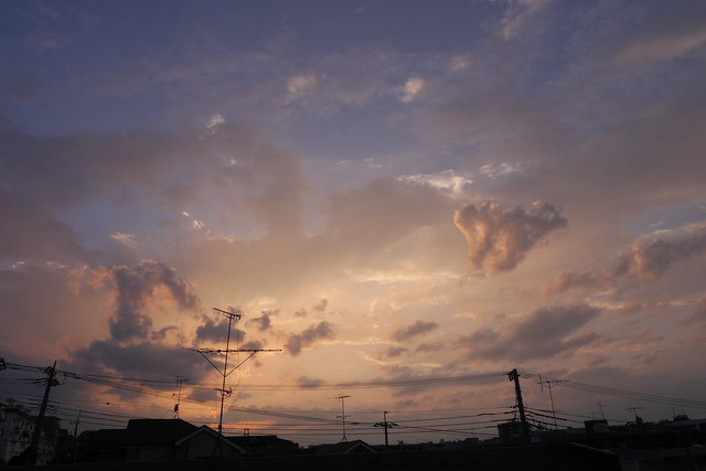 This Evening's Sunset, Kawasaki, Japan.