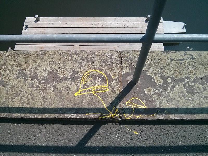 Gelbe Pilze am Osthafen