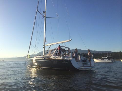 Liberty at anchor in English Bay
