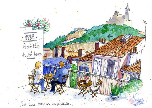 Illustrations pour Marie Claire Russie Mai 2014 - Marseille