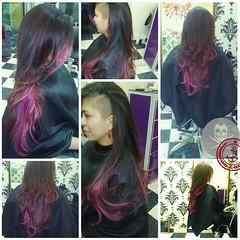 Colore Filtro nop #pastel #urbanstyle #love #esteticadf #shavedside #goldwell #cute #purplehair #hairdresser #style #hairkut #longhair #studiohairkut #pinkhair #coloreffect #hairstyle #nofiltro