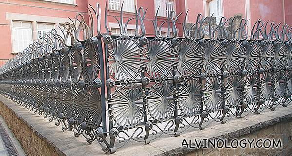 Metal gates, with shapes of ferns