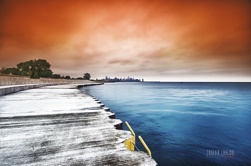 city urban lake water skyline clouds landscape illinois colorful cityscape cloudy fineart lakemichigan shore lakeshore tress hdr highdynamicrange cloudporn 2014 cokin 47thstreet tobaccofilter sigma1020f4 nikond7000 zlphotography zouhairlhaloui gradutedfilter chicagiwindycity