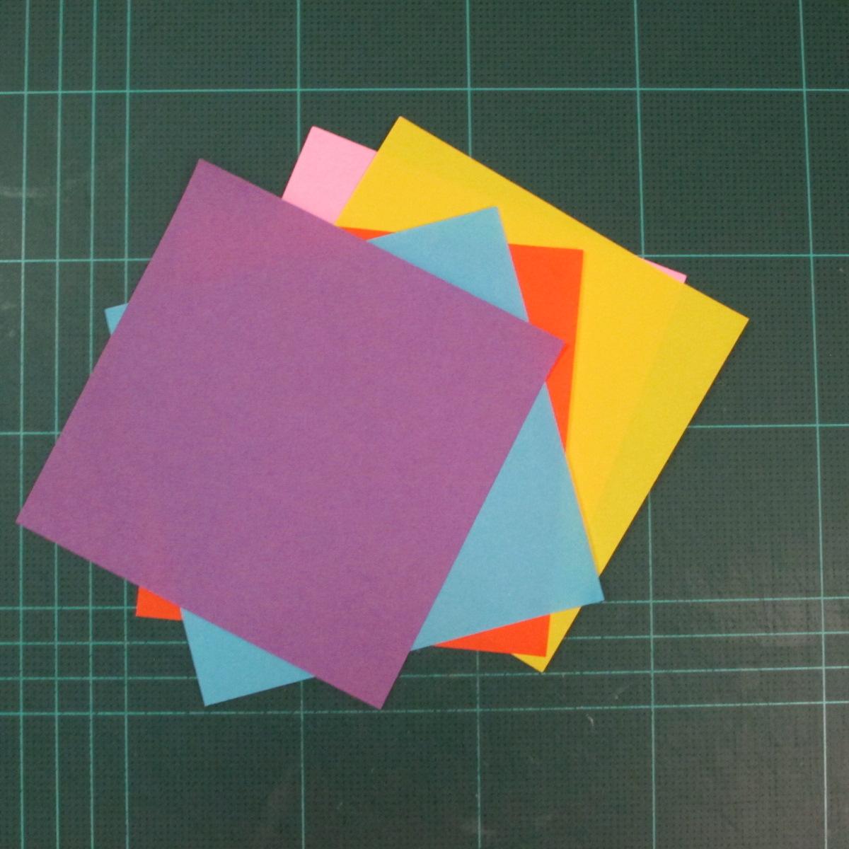 วิธีพับกระดาษเป็นถาดใส่ขนมรูปดาวแปดแฉก (Origami Eight Point Star Candy Tray) 001