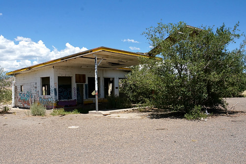 Whiting Bros. Filling station - Route 66 between McCartys & San Fidel, New Mexico