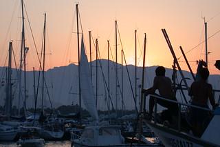 Barcos en Arbatax.