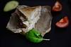 Assembled: Avocado and tomato veggie sandwich