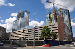 Edison apartments and Skyhouse construction in Raleigh, NC