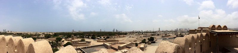Pano from the top of Fujairah Fort. For use in a blog post.