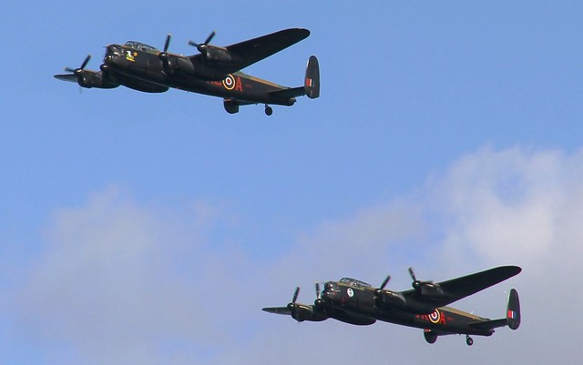 Bring Back an Oldie - 23 Aug 2014 - Canon EOS 60D - Two Lancasters at the Dawlish Airshow